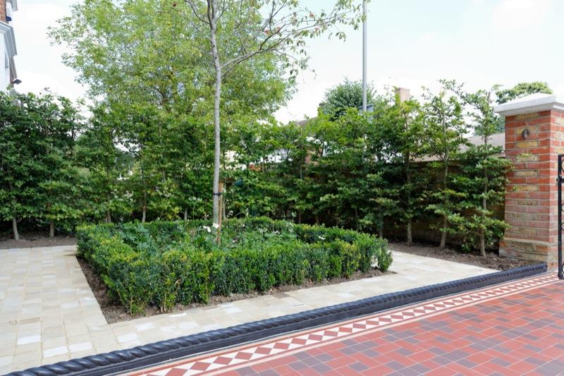别墅花园地板效果图木质地板别墅图片5